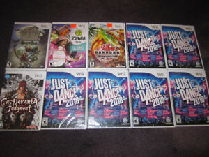 Wii Games, etc - New, sealed boxes (some store-opened )See List