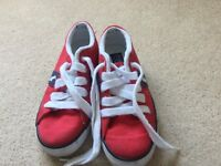 Boys Polo Ralph Lauren red trainers size UK12