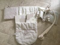 Mamas and papas nursery set inc curtains, cot mobile, bumpers, pram blanket, wall pictures £20