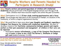 Respite Workers & Parents Needed for Research Study!