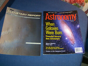 THE PLANETARY REPORT-ASTRONOMY-2 BACK ISSUES-1998-MARS+