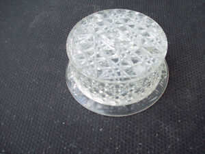 1-CLOCHE A GATEAU,PLAST TRANSPARENT,VINTAGE 1960.