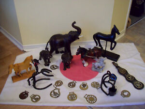 HORSE DECOR/HORSE BRASS WARE/ ELEPHANTS**SEE EACH PRICE