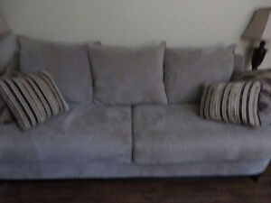 Sofa / Couch like-new mint condition long 1 year old brown color