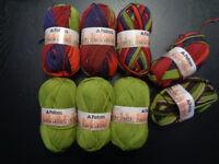 Crazy Yarn De-Stash!!!  Part 18: wool & blends, worsted & DK