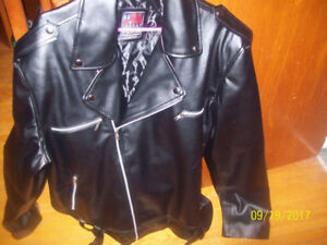 SIZE 3XL  MENS   LEATHER JACKET