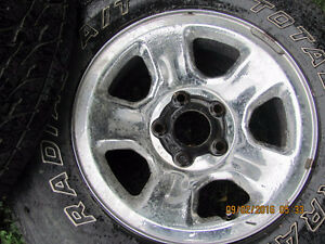 Two Dodge Rims with 265 R 17 Tires, $25 each Prince George British Columbia image 5