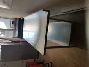 Stainless still cabinet and work table 6ft for sale