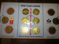 1998 Team Canada Official Olympic Hockey Medallions