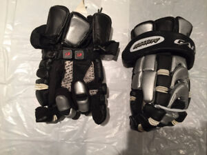 Lacrose equipment gloves, arm guards, rib pads - used 3 games