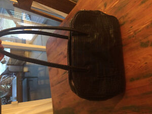 Black leather danier purse
