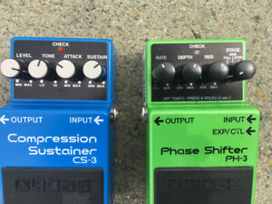 guitar pedals, Boss Phase shift & Compressor