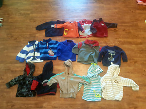 Boys hoodies&sweaters size 6m up to 24m