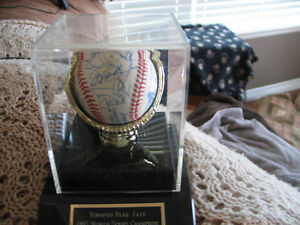 Signed  1992 world series ball