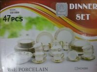 47PC DINNER SET, IN GOLD OR SILVER