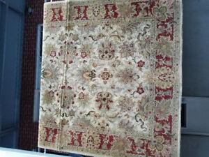 Tapis de salon en laine d'origine indienne