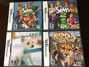 FIVE NINTENDO DS GAMES, INCL. THE SIMS