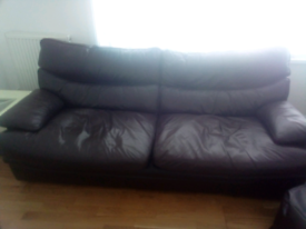 G Plan leather sofas. 3 seater and 2 seater