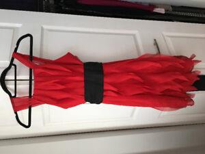 Red Vera Wang Bridesmaid dress with Ruffles