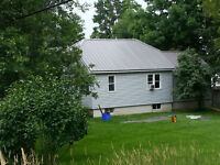 Sheet steel roofing and siding
