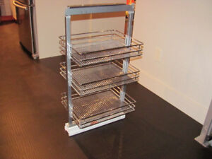 Kitchen Cabinet Pull-Out Basket System