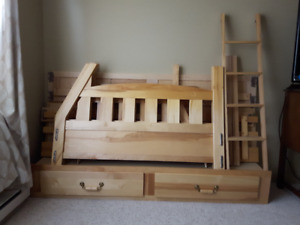 BUNK BEDS Solid Birch single over double