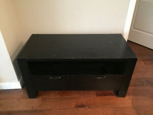 Dark Brown Coffee Table, Solid Wood