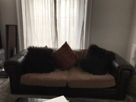 Huge comfy two seater sofa with cushions