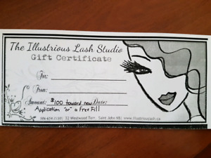 $100 Gift Certificate for HALF price !!