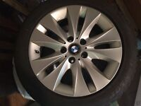 BMW 5 Series Factory Alloy Rims and Dunlop 225/50R17 Snows