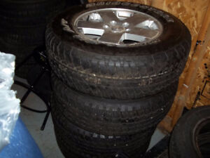 FOR SALE JEEP RIMS AND TIRES