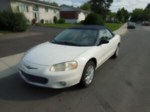 2001 Chrysler Sebring Limited convertible / décapotable