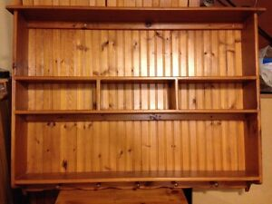 Wheaton's Solid Wood Pine Country Wall Hutch