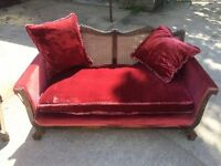 Bergere style sofa and chair