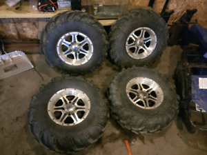ITP wheels and ITP XTR mud lite radial tires