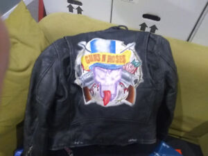 Vintage G'n'R one of a kind leather jacket hand crafted