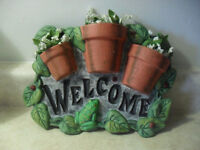 New Ceramic Welcome sign
