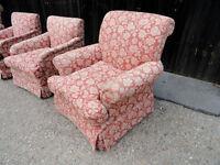 Set of 4 Designer Bedroom Sofa Armchairs