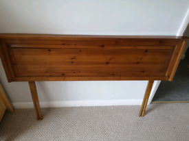 Headboard for a double bed - dark pine