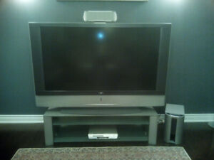 "60"" Sony Tv with Stand and DVD & soround System"