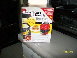 Hamilton Beach Sandwich Maker, Pancake Factory, Paderno Roaster