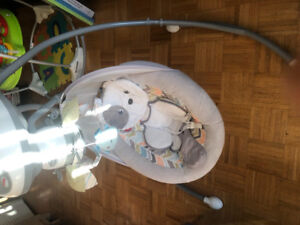 Fisher price snug a puppy baby cradle