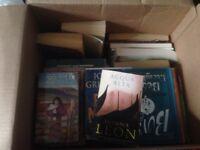 A box of 25 random books