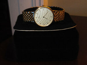 MEN'S GOLD OMEGA DeVILLE WATCH