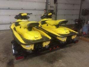 2 XP 800 SEADOO'S With Double Trailer