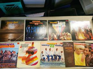 9 disques vinyles de James Last (musique party mon-stop)