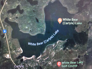 Lake front view lot lease White Bear Lake SK very nice lake