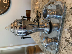 Vintage Fire King electric coffee percolator