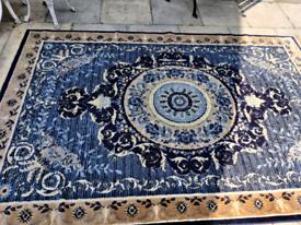 "Large Silk Rug (124"" x 79"")"