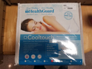 HealthGuard Cool Touch Mattress and Health Protector (Brand New)
